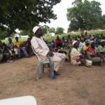 Capo villaggio alla riunione