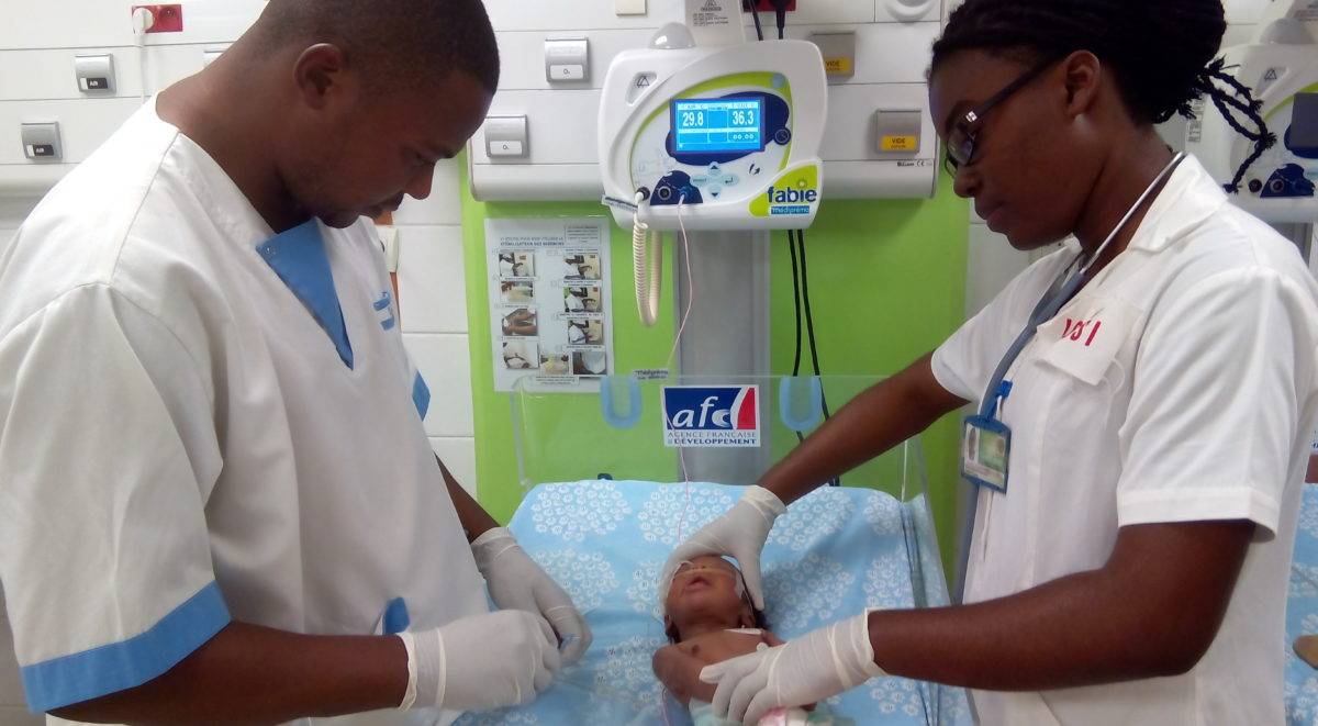 World Malaria Day 2018. Les infirmières de Mont-Ngafula, en R.D. ...